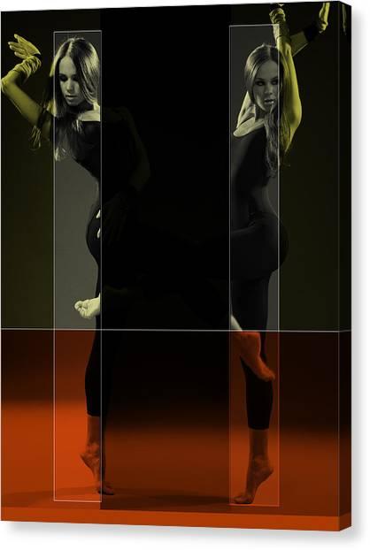 Passionate Canvas Print - Dancing Mirrors by Naxart Studio