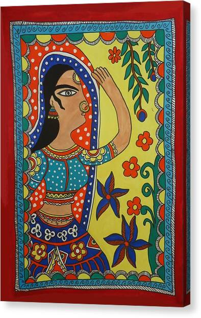 Dancing Woman Canvas Print by Shakhenabat Kasana