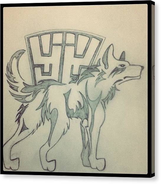 Wolves Canvas Print - Daniel's Tattoo So Far (: #tattoo by Tiffany Harned