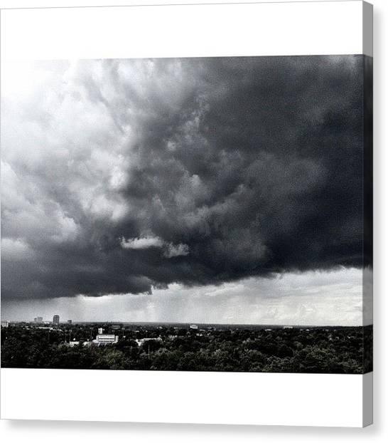 Lightning Canvas Print - Dark And Ominous #lightning #storms by Elza Hayen