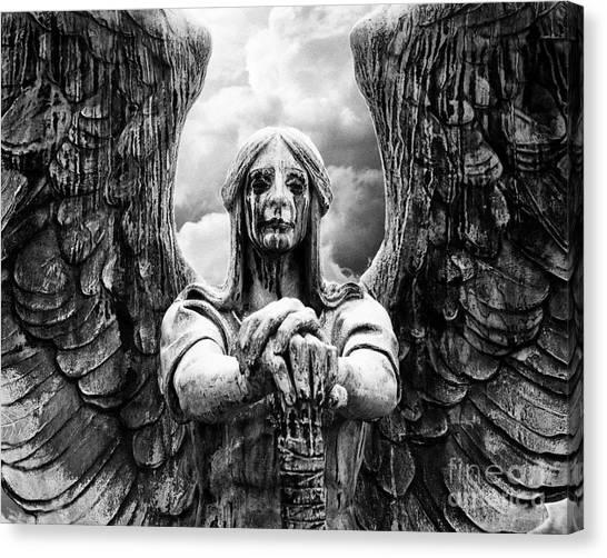 Dark Angel Warrior Canvas Print