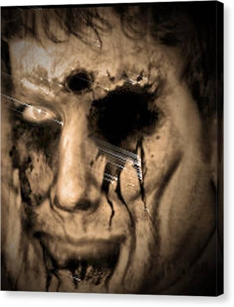 Dark Portrait Canvas Print by Beto Machado