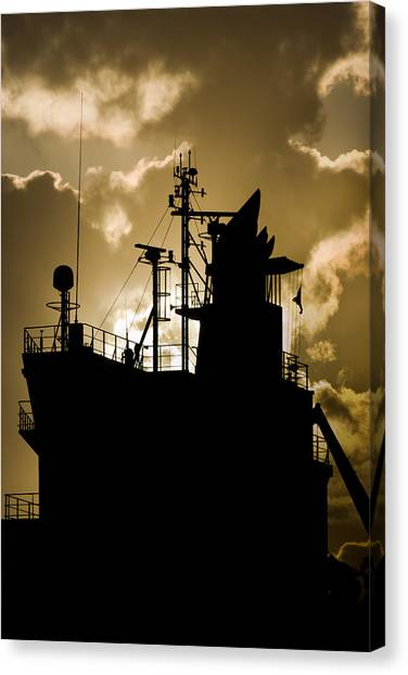 Dark Superstructure Canvas Print