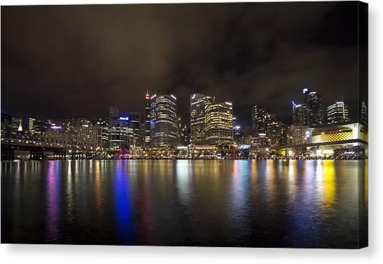 Sydney Skyline Canvas Print - Darling Harbor Sydney Skyline by Douglas Barnard