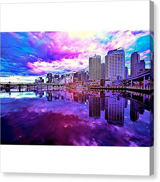 Cool Canvas Print - Darling Harbour Is A Harbour Adjacent by Tommy Tjahjono