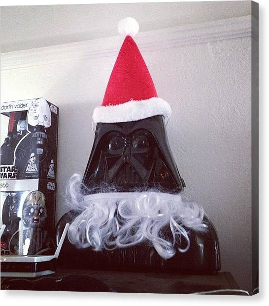Star Wars Canvas Print - Darth Claus by Madeleine Claire