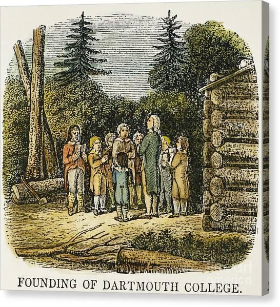 Dartmouth College Canvas Print - Dartmouth College, 1770 by Granger