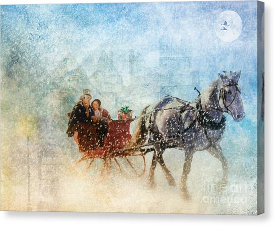 Dashing Through The Snow  Canvas Print
