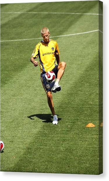 David Beckham Canvas Print - David Beckham On Location For La Galaxy by Everett