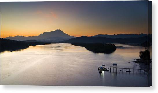 Dawn At Mengkabong River Canvas Print