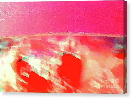 Dawn Of A Big Pink Canvas Print