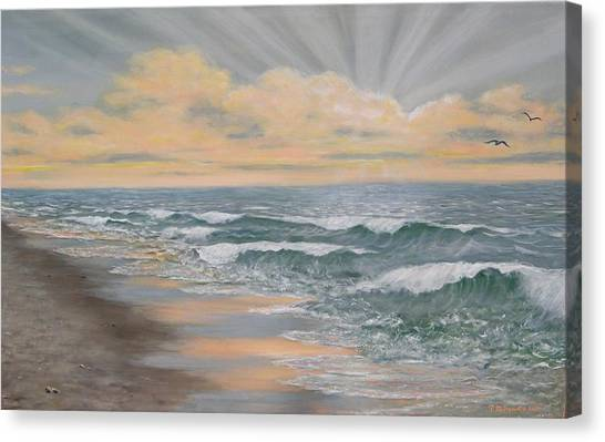 Dawn Surf Canvas Print