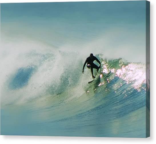Dawn Surfer Canvas Print by David Rearwin