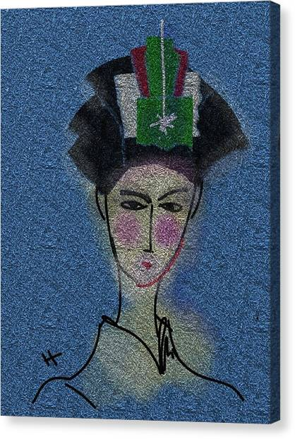 Day Dream Of A Geisha Canvas Print by Hayrettin Karaerkek