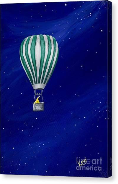 Daydreaming In A Hot Air Balloon Canvas Print
