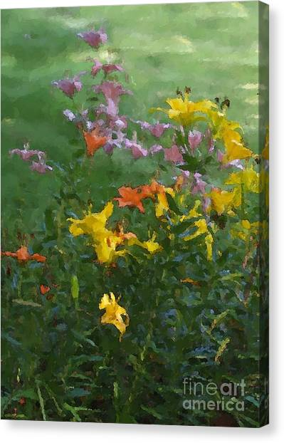 Daylilies 2012 Detail Canvas Print