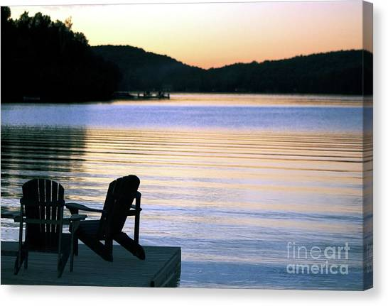 Day's End At The Lake Canvas Print
