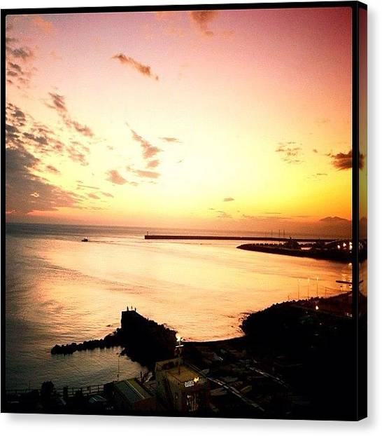 Seas Canvas Print - Days End #graceland25 #webstagram by A Rey