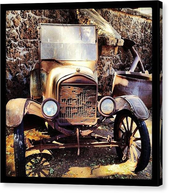 Ford Canvas Print - Days Of Old by Darice Machel McGuire
