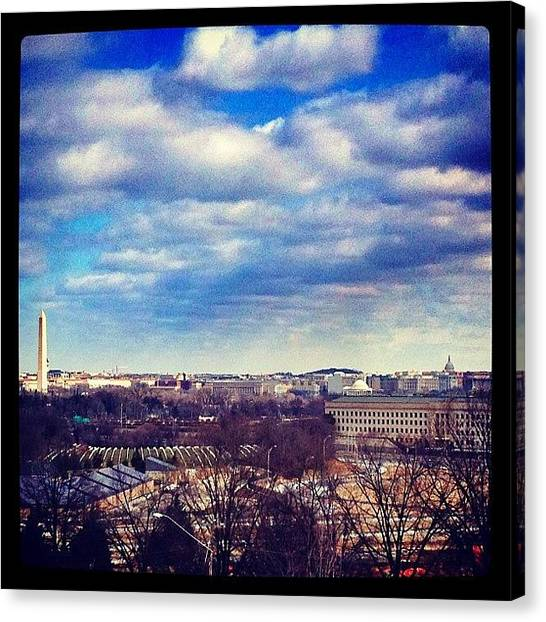 Virginia Canvas Print - Dc From The Air Force Memorial by Loren Southard