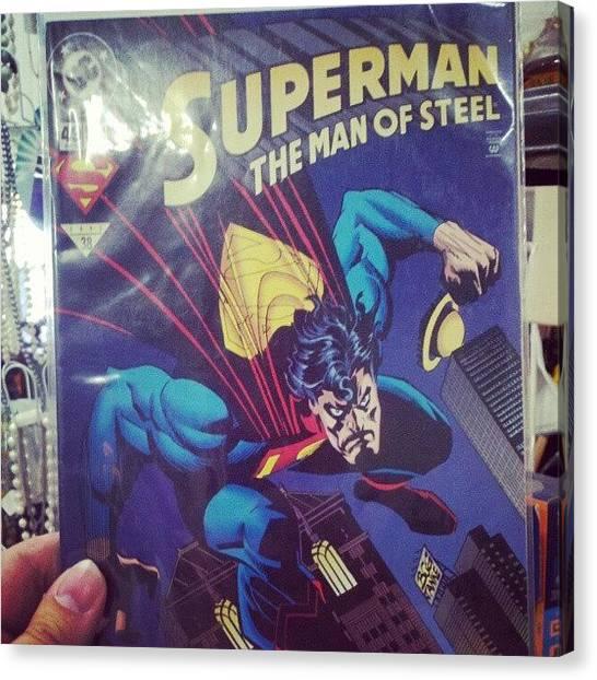 Superhero Canvas Print - #dccomics #superman by Melissa Wyatt