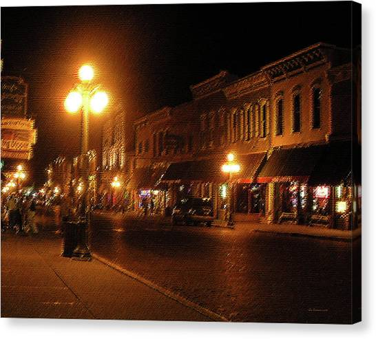 Deadwood Night Canvas Print by Liz Evensen