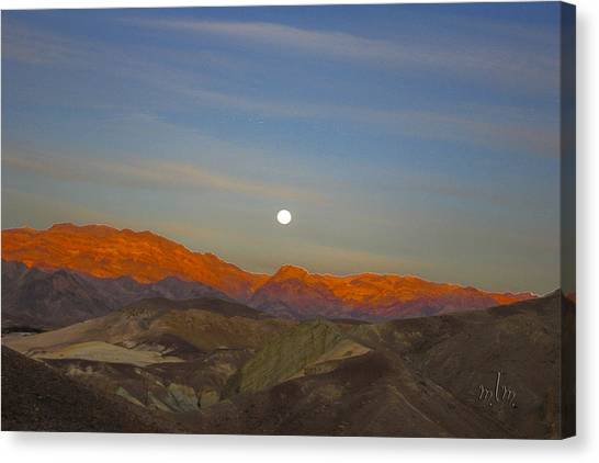 Death Valley Moonrise Canvas Print