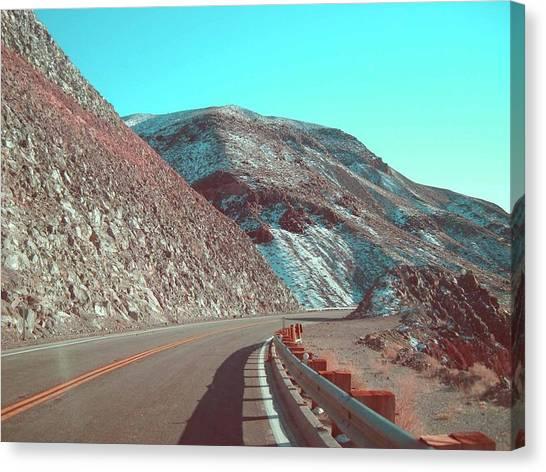 Death Valley Canvas Print - Death Valley Road 2 by Naxart Studio