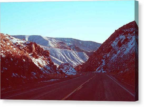 Death Valley Canvas Print - Death Valley Road by Naxart Studio