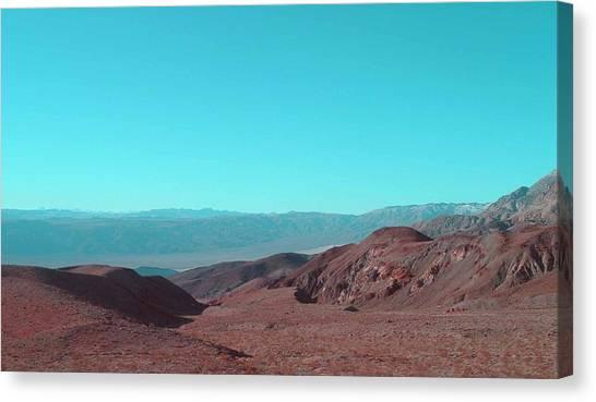 Death Valley Canvas Print - Death Valley View by Naxart Studio