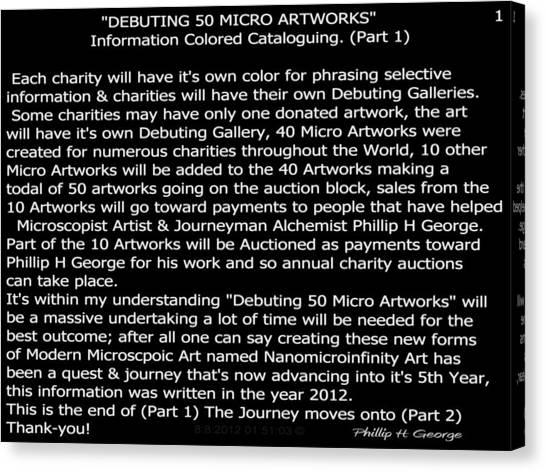 Debuting 50 Micro Artworks Part 1  Canvas Print
