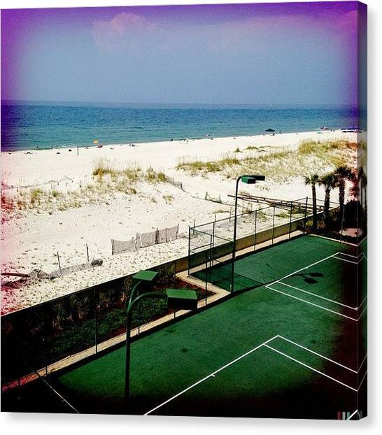 Tennis Canvas Print - Decisions, Decisions! #tennis Or #swim by Molly Slater Jones