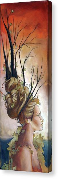 Deco On Her Mind  Canvas Print by Jacque Hudson