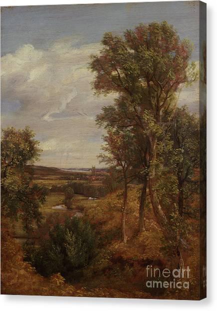 Dedham Canvas Print - Dedham Vale by John Constable