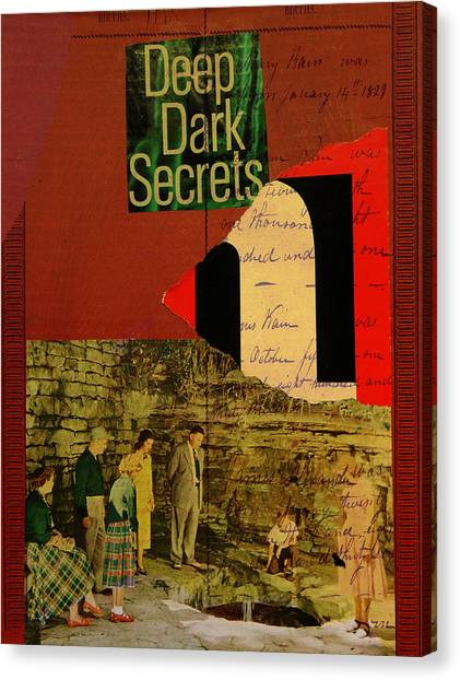 Deep Dark Secrets Canvas Print by Adam Kissel