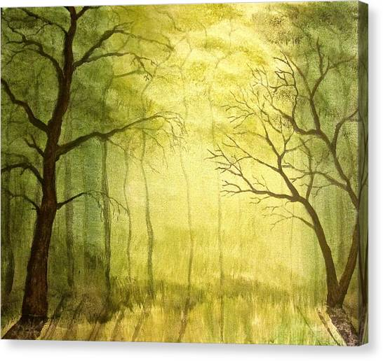 Deep Woods Canvas Print by Heather Matthews