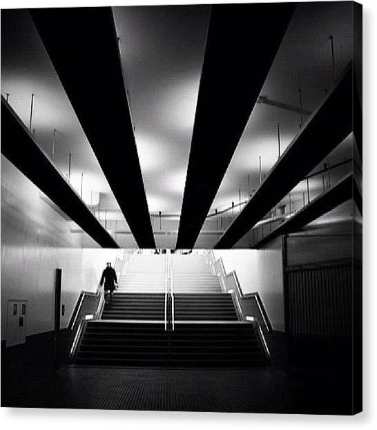 London Tube Canvas Print - Deeper by Robbert Ter Weijden