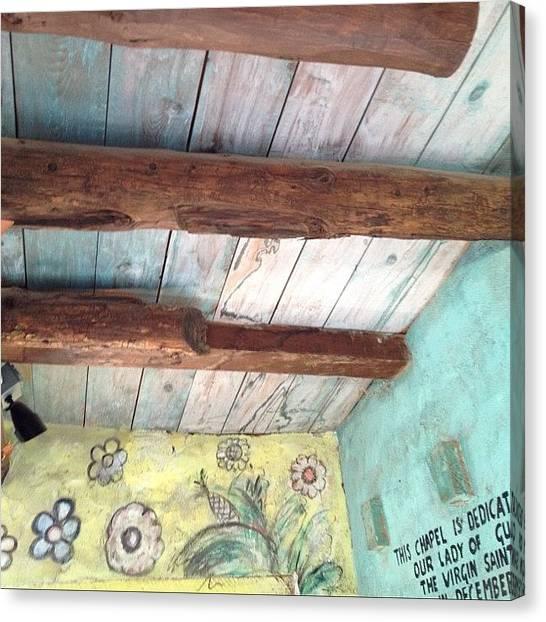 Pastel Canvas Print - Degrazia Studio Chapel by Leslie-Jean Thornton