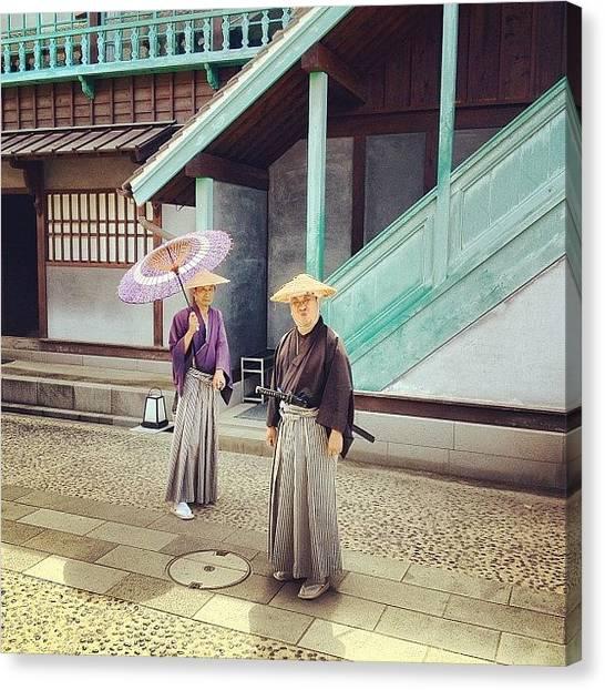 Samurai Canvas Print - #dejima #japan #japantrip2012 by Logan Mcpherson