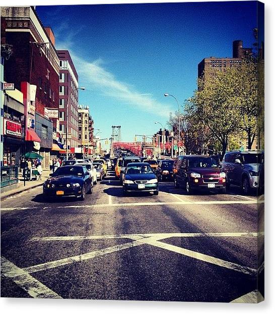 Cars Canvas Print - Delancey Street - Lower East Side - New York City by Vivienne Gucwa
