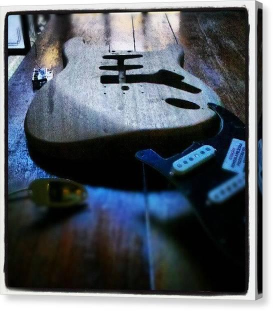 Stratocasters Canvas Print - Delicaster 62 by Kim Seiji