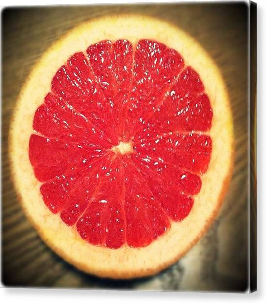 Grapefruits Canvas Print - Delicious! #yum #instafood #followme by Jenni Pixl
