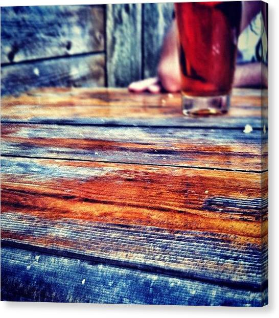 Tables Canvas Print - Delightfully Accidental Photo by Marayna Dickinson