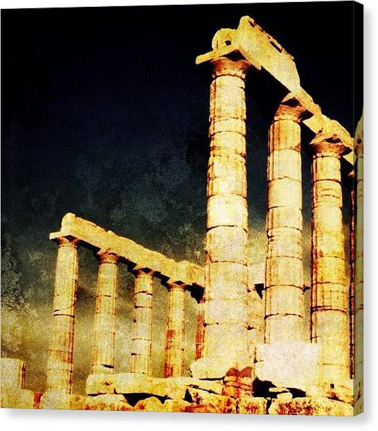 Judaism Canvas Print - Delphi Ancient Temple by Natasha Marco