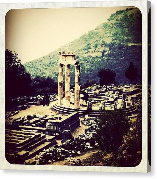 Temples Canvas Print - Delphi Temple, Greece by Natasha Marco