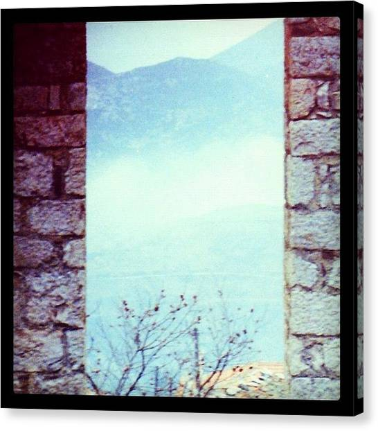 Greece Canvas Print - Delphi View by Natasha Marco