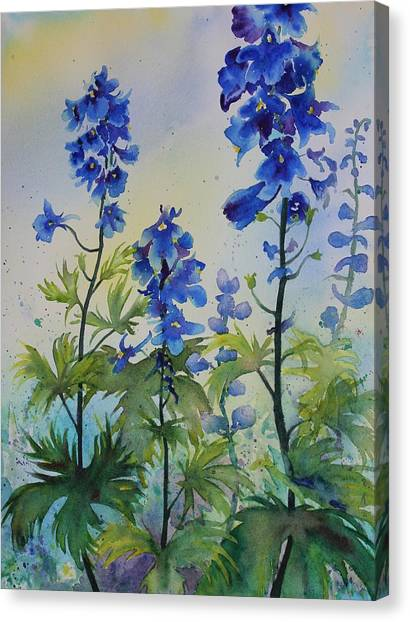 Delphiniums Canvas Print