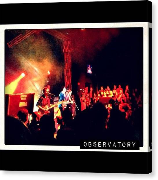 Ashes Canvas Print - #deltaspirit #theobservatory #livemusic by Ash Eliot