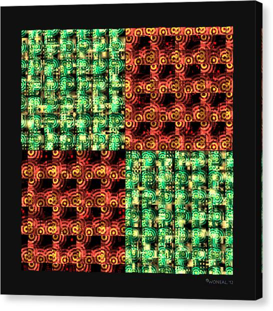 Denzone Tile 4 Canvas Print by Walter Neal