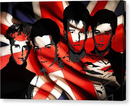 Synthesizers Canvas Print - Depeche Mode 80s Heros by Steve K